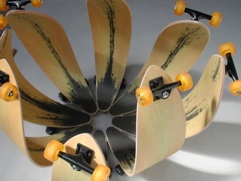Skateboard flower
