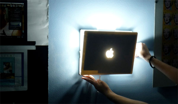 Old iBook finds new life as lighting