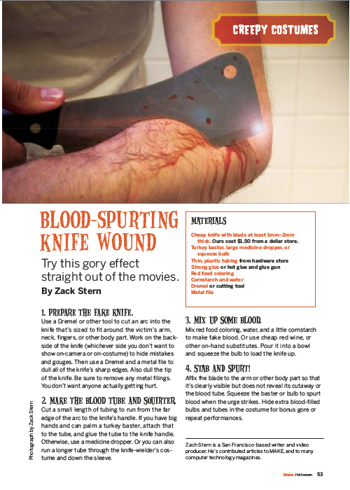 Weekend Project: Blood Spurting Knife Wound (PDF)