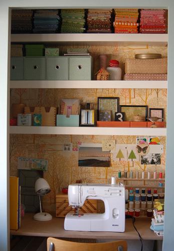 Lovely Design's Closet Craft Room