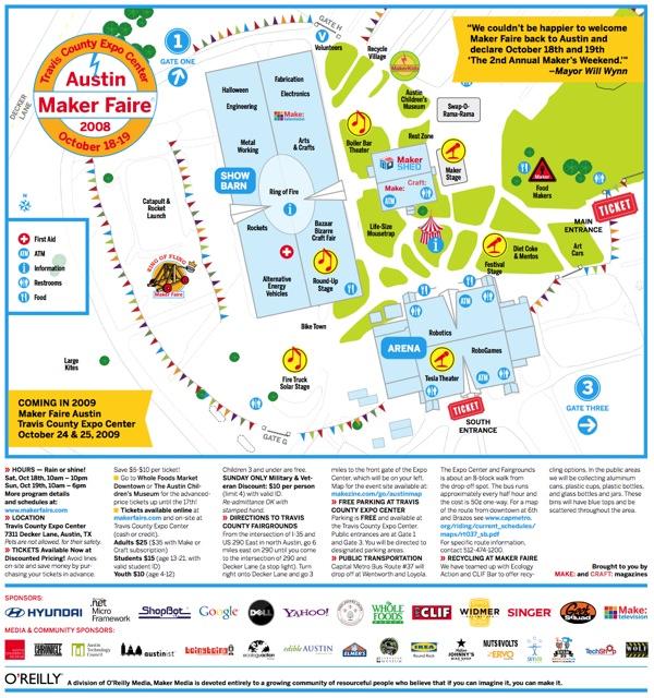 Maker Faire Austin 2008 program