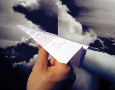 Paper plane contest in NYC
