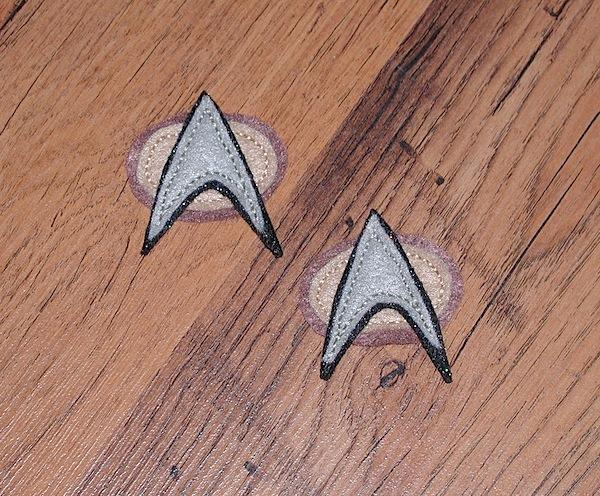 Star Trek comm badge pins