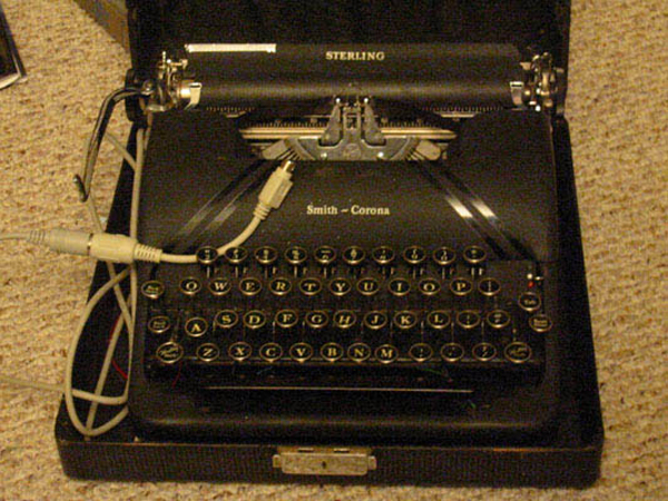Build a keyboard from an old typewriter