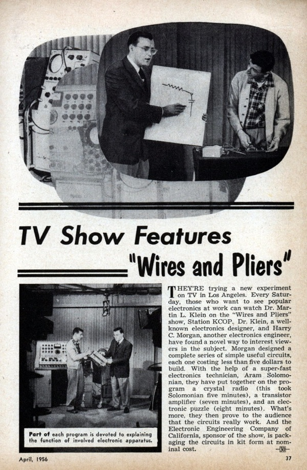 """TV show features """"Wires and Pliers"""" – MAKE TV from 52 years ago?"""