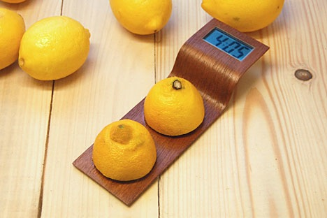 Designer citrus-powered clock