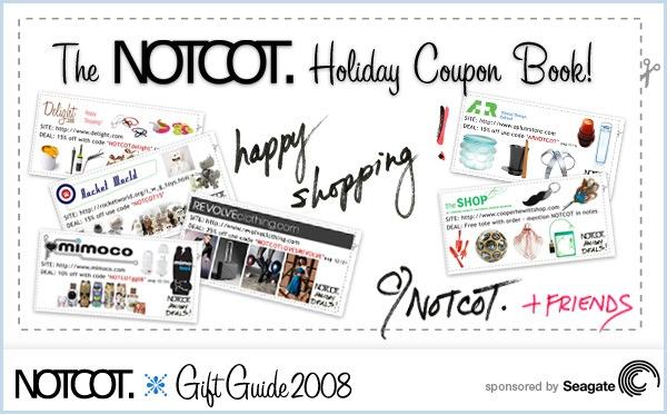 The NOTCOT Holiday coupon book