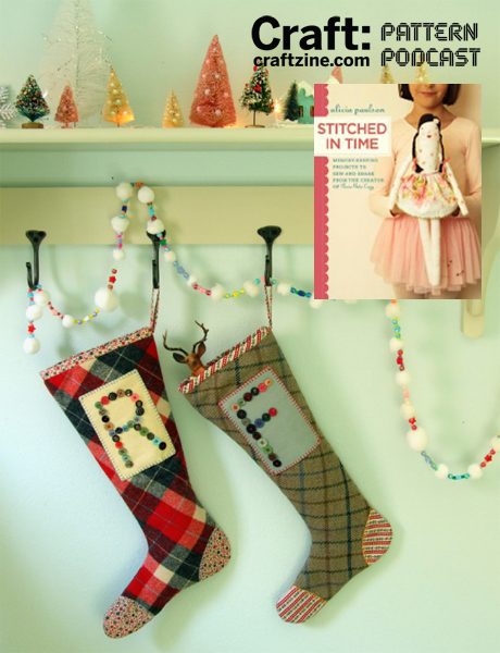 Monogrammed Stocking from Stitched in Time – CRAFT Pattern Podcast & Giveaway