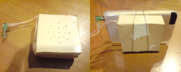 DIY: iPod cardboard speaker and stand
