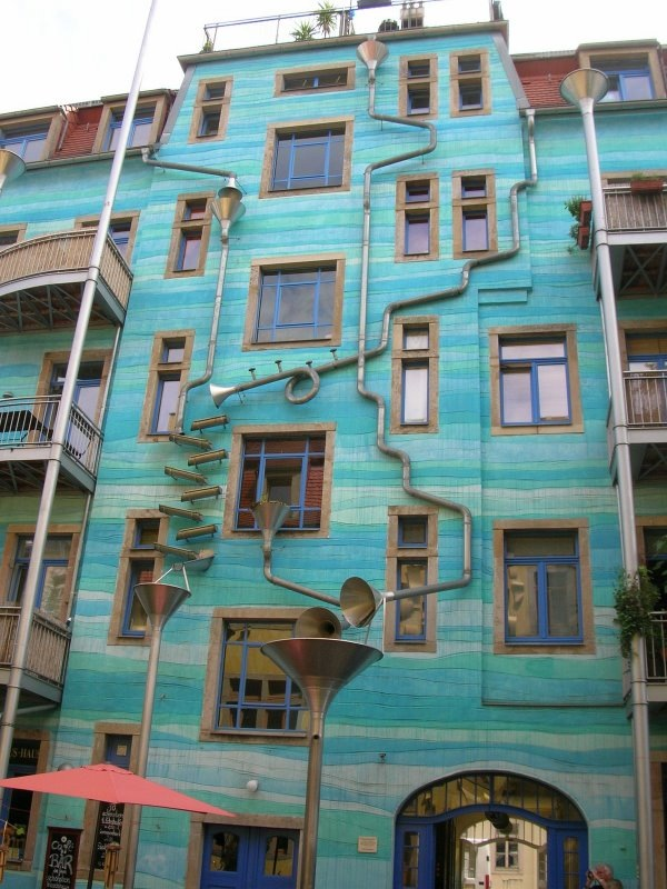 Wall plays music when it rains…