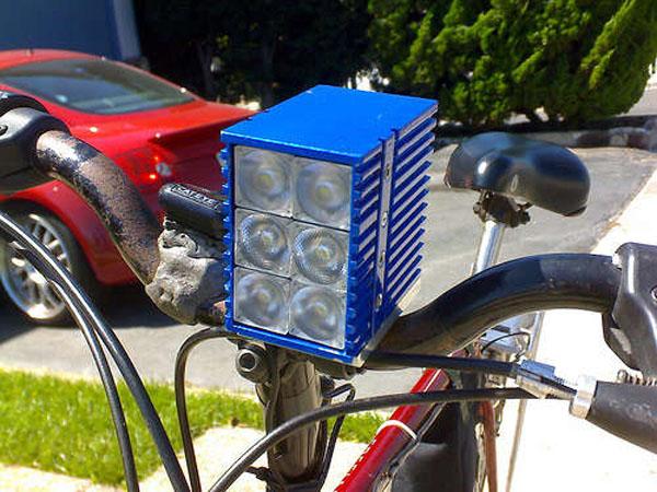 DIY: Kilo-Lumen bike headlight