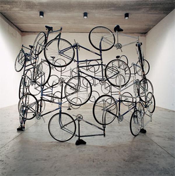 Bicycles revolt and succumb to art
