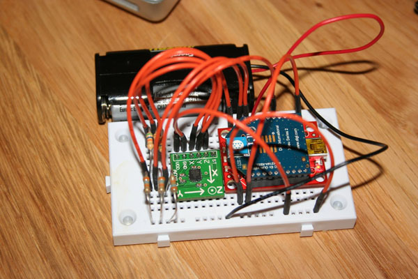 Arduino & XBee wireless accelerometer
