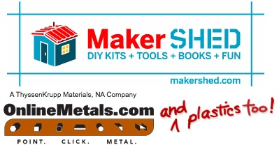 Maker Shed now has Online Metal and Plastics