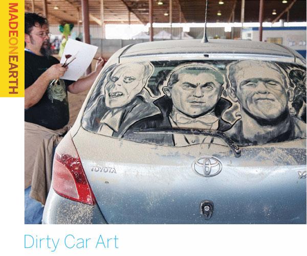 Dirty Car Art – Car as a canvas