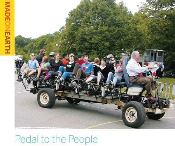 Pedal to the People – 15-person bicycle-truck