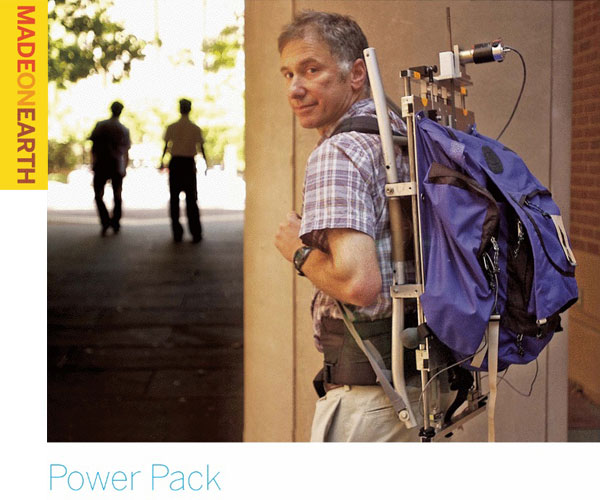 Power Pack – Generating power with the motion of a back pack