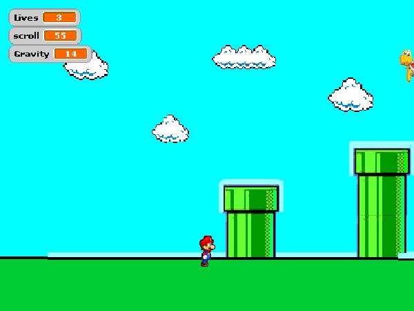 Scrolling Mario game in Scratch