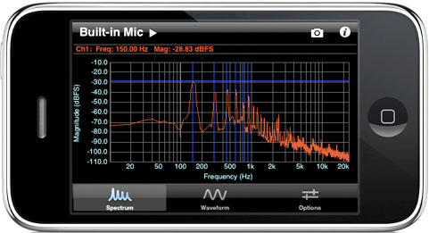 Audio oscilloscopes for iPhone