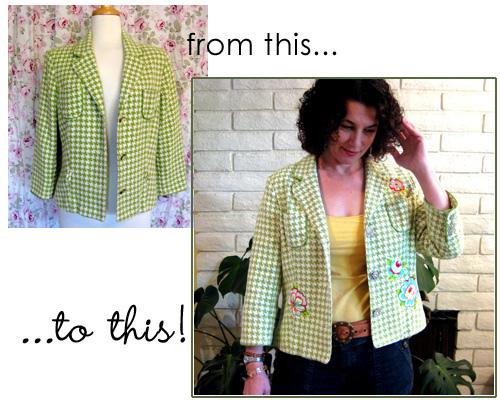 Sommer Designs' Revamped Thrifted Jacket