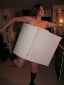 You will be a [roll of toilet paper](http://www.instructables.com/id/toilet_paper_costume/). People will laugh.