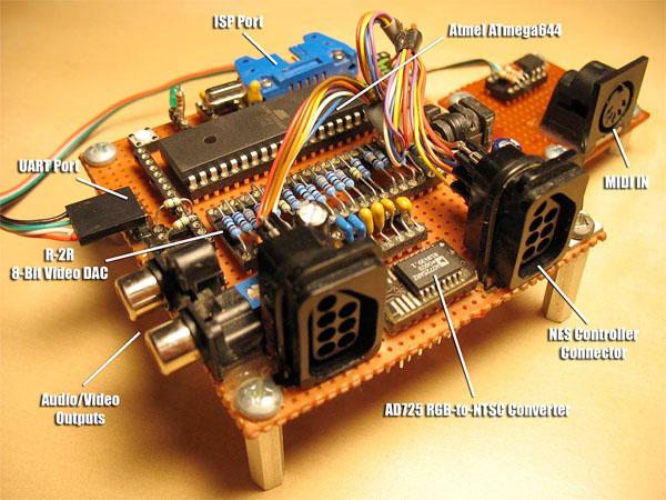 Fuzebox – an open source 8-bit game console kit