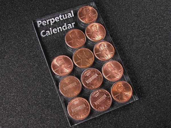 Make a cheap perpetual calendar