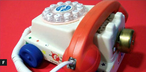"""HOW TO – Make a """"Chatter telephone"""" – a real phone from a  Fisher-Price Chatter Telephone!"""