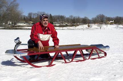 Rocket powered sled