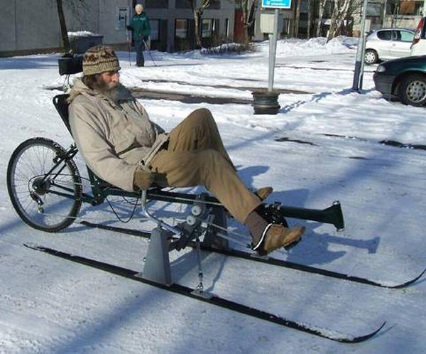 Ski bicycles