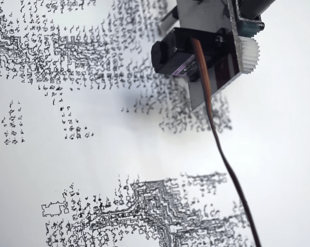 Suspended Pen on an XY Plotter: The Drawing Machine