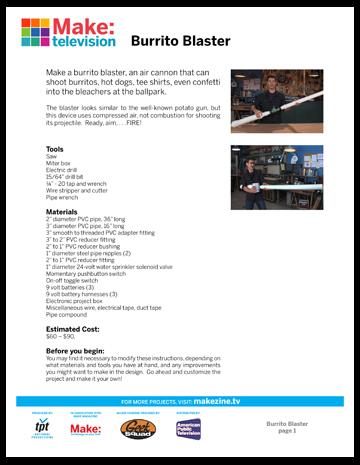 Maker Workshop PDF – Burrito Blaster