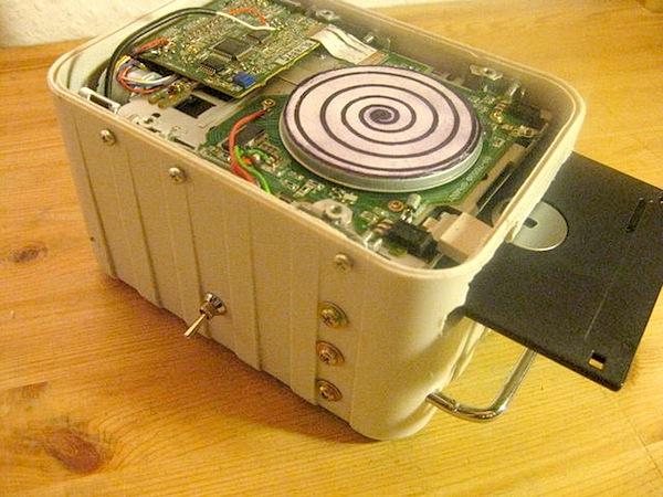 Floppy drive bent-strument