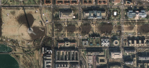 Inauguration, as seen from space