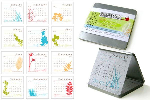 Plantable/reusable calendars