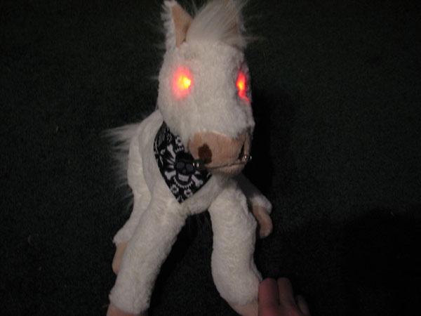 Evil zombie plushie pony!