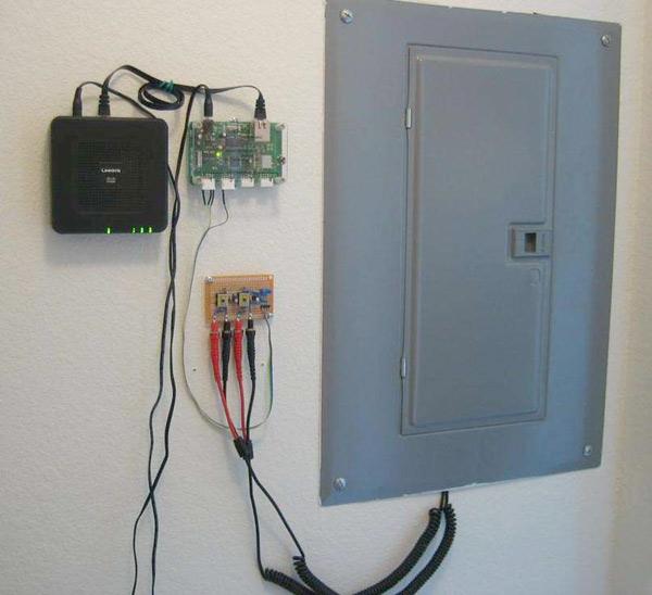 Web-based household power usage monitor
