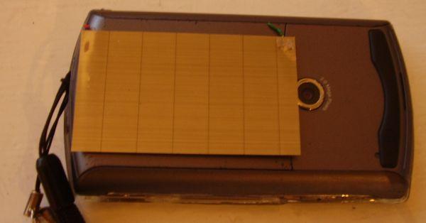 Cell phone solar panel