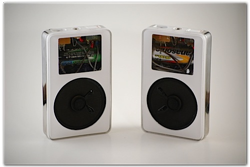 iPod speakers made out of iPods