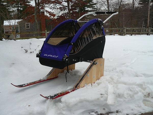 Cross country ski stroller
