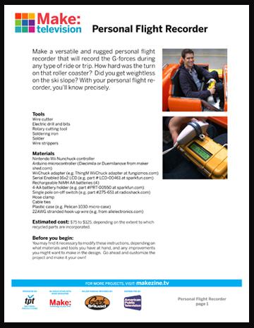 Maker Workshop PDF – Personal Flight Recorder