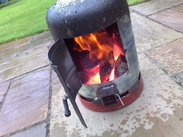 HOW TO – Gas bottle wood burner