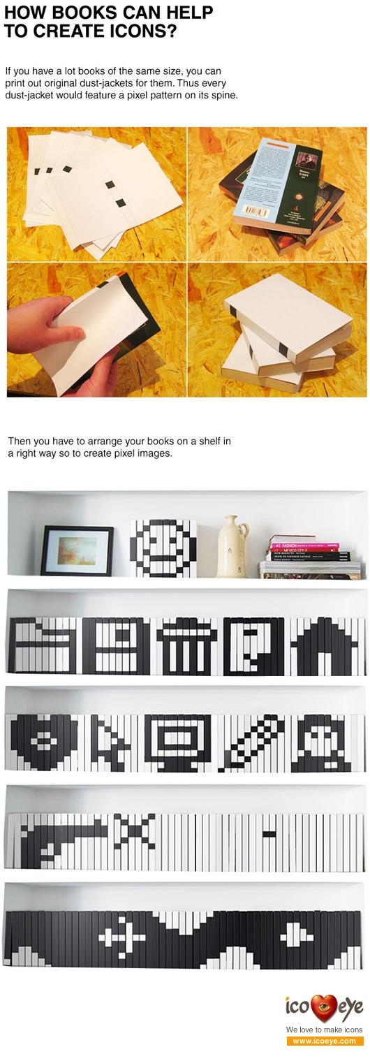 Pixel art book jackets
