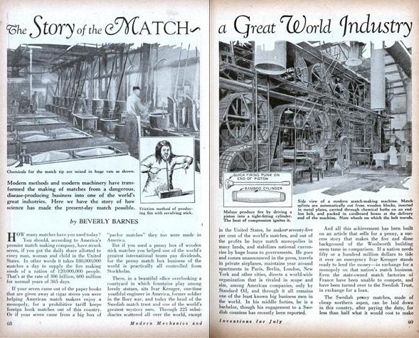 The Story of the Match ~ a Great World Industry