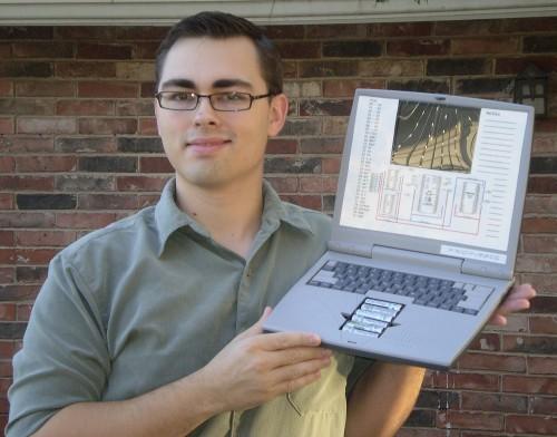 DIY Parallax Propeller laptop