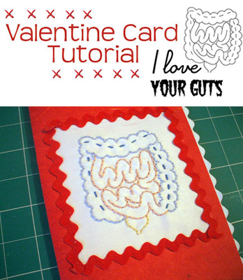 """""""I Love Your Guts"""" Valentine From Sublime Stitching"""