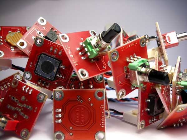 TinkerKit: a physical computing toolkit for designers