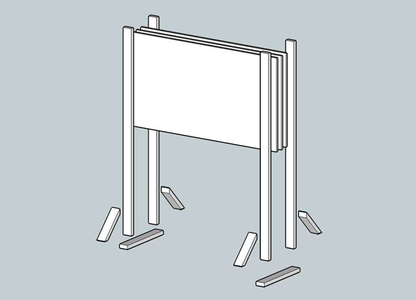 How-To: Make a freestanding whiteboard