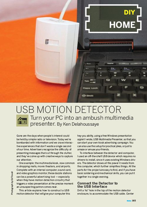 Weekend Project: USB Motion Detector (PDF)