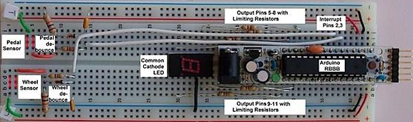 Arduino bicycle gear indicator